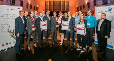 The winners of the 2015 Munich Business Plan Competition