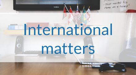 International Matters