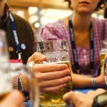 Beer at Bits & Pretzels at Oktoberfest
