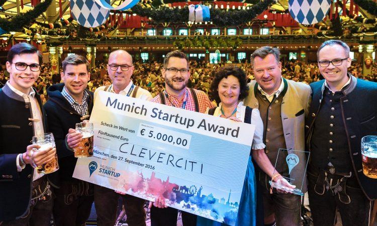 Cleverciti wins Munich Startup Award 2016