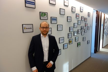 Bastian Nominacher in the Munich Celonis office. (Photo: Munich Startup)