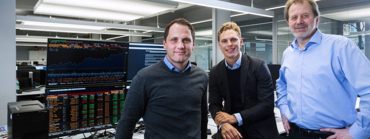 The Scalable Capital founding team: Florian Prucker, Erik Podzuweit and Prof. Dr. Stefan Mittnik (from the left, photo: Scalable Capital)