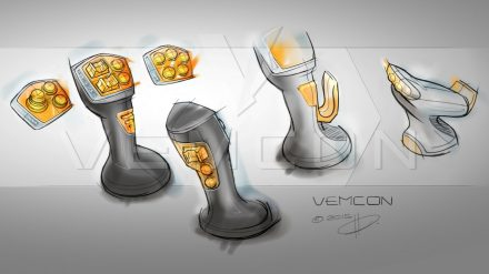 Design study of a joystick by Vemcon