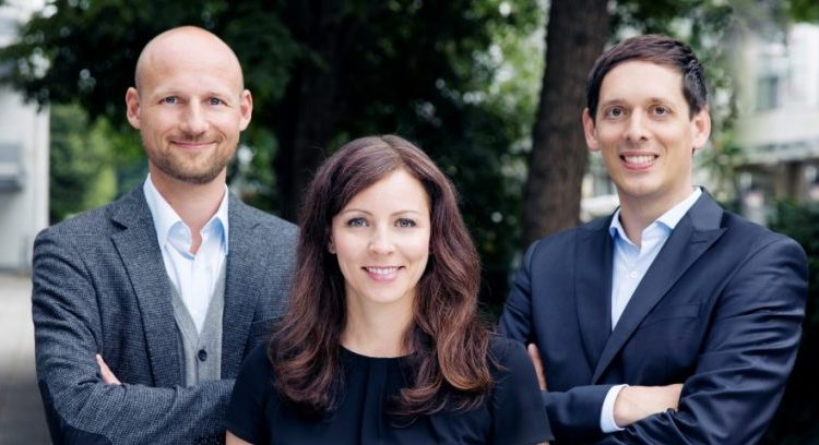 The three Cluno founders Christina Polleti, Andreas Schuierer, and Nico Polleti