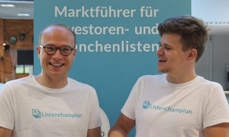 Listenchampion founders Jan-Erik Flentje (right) and Leo Semmelmann.